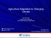 Agricultural Adaptation to a Changing Climate