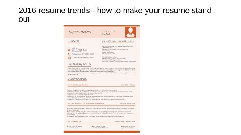 current resume trends