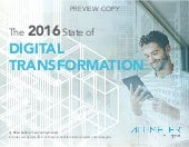 [RESEARCH REPORT] The 2016 State of Digital Transformation