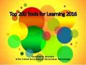 Top 200 Tools for Learning 2016