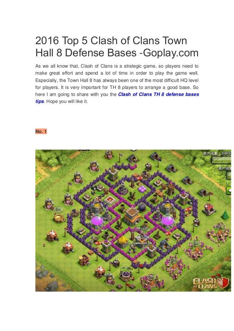 Clash Of Clans Level 8 Best Defense