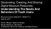 Discovering, Creating, And Sharing Digital Museum Resources: Understanding The Needs And Behaviors Of Youth Users