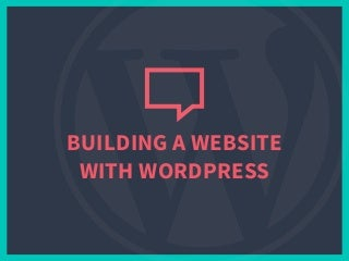 Building a website with WordPress