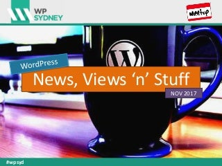 WordPress News - November 2017