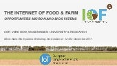The Internet of Food & Farm: Opportunities Micro-Nano-Bio Systems
