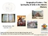 Geography of Letters - The Spirituality of Sofia in the Historic Memory