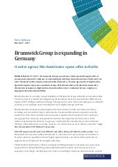 Brunswick Group is expanding in Germany
