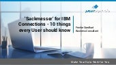 Sackmesser for IBM Connections - 10 things every user should know