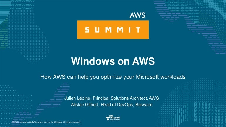 Migrating to the cloud - Windows on AWS