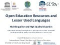 Enhancement of Cultural and Linguistic Diversity through OER