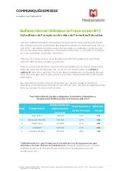 Audience Internet Ordinateur en France - Juin 2017