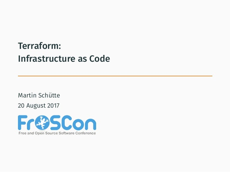 Terraform -- Infrastructure as Code