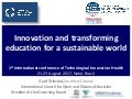 Innovation and transforming education for a sustainable world