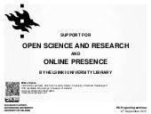 Support for Open Science and Research and Online Presence by Helsinki University Library