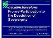 decidim.barcelona, from e-Participation to the Devolution of Sovereignty