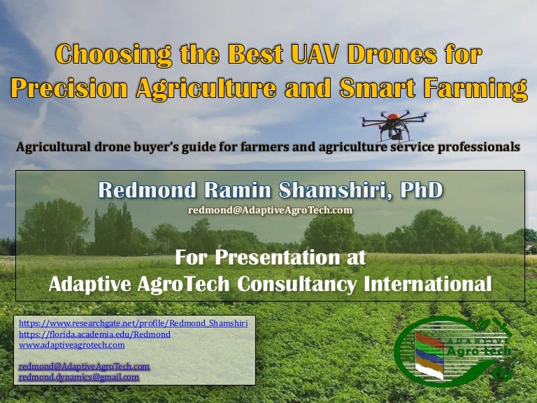 Choosing the Best UAV Drones for Precision Agriculture and Smart Farm…
