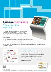kompas wayfinding feature list - software for digital guiding signage 2017