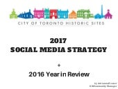 2017 Social Media Strategy for Toronto Historic Sites