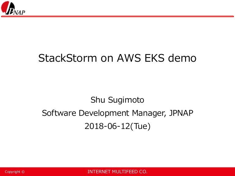StackStorm on AWS EKS demo