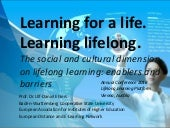 Learning for Life - Learning Lifelong