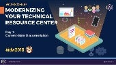 [Workshop Part 1-1] Modernizing Your Technical Resource Center - Assessing Term: Current State with Cruce Saunders of [A]