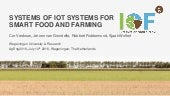 Systems of IoT Systems for Smart Food and Farming