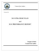2018-2019 Strategic Plan and Performance Report - Final