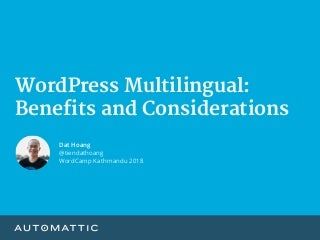 WordPress Multilingual: Benefits and Considerations
