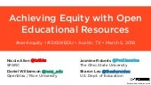 Achieving Equity through Open Educational Resources @ SXSWEDU