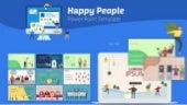 Happy People Powerpoint Infographic Set