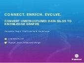 Connect. Enrich. Evolve. Convert unstructured data silos to knowledge graphs