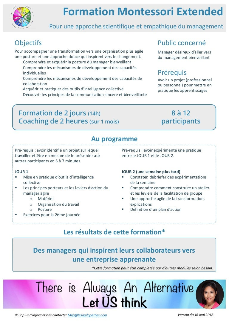 Formation Manager Montessori Entended