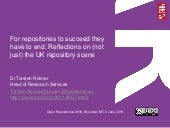 For repositories to succeed they have to end. Reflections on (not just) the UK repository scene