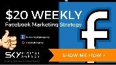 $20 weekly Facebook Marketing Budget & Strategy