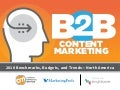 B2B Content Marketing 2018 - Benchmarks, Budgets & Trends - North America