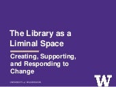 The Library as a Liminal Space: Creating, Supporting, and Responding to Change