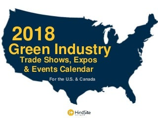 2018 Green Industry Events Calendar