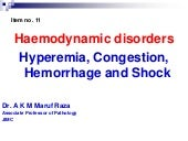 Haemodynamic disorders.