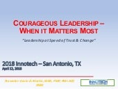 Courageous Leadership - When it Matters Most