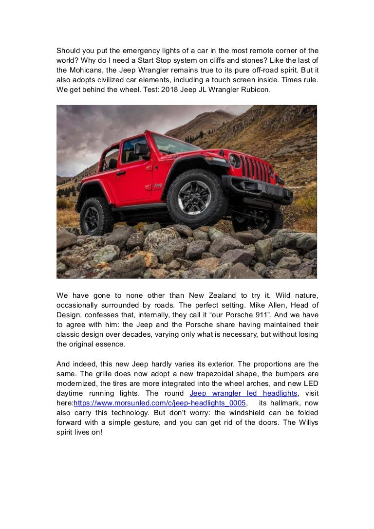 2018 jeep jl wrangler rubicon driving test