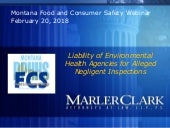 2018 Montana Environmental Health Liability for Negligent Inspections
