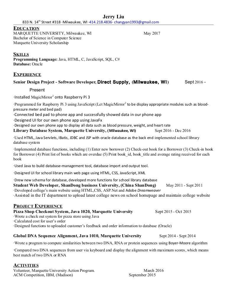 2018 new resume