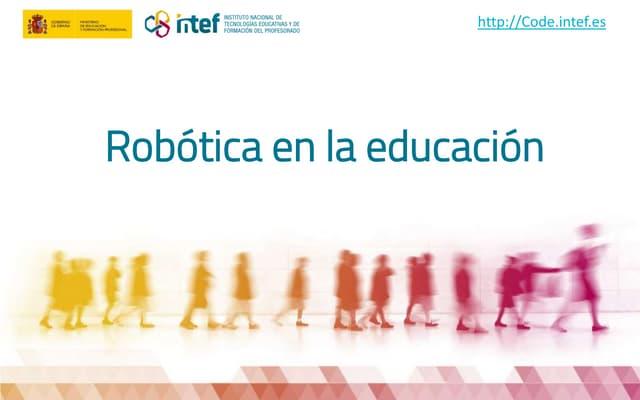 2018 Robótica y educación. Escuela de pensamiento computacional