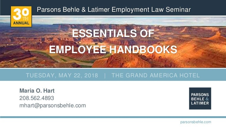 Essentials of Employee Handbooks