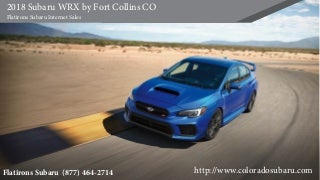 2018 Subaru WRX by Fort Collins CO