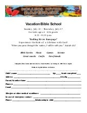 2018 vbs registration