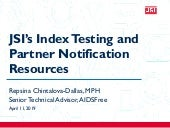 JSI's Index Testing Resources