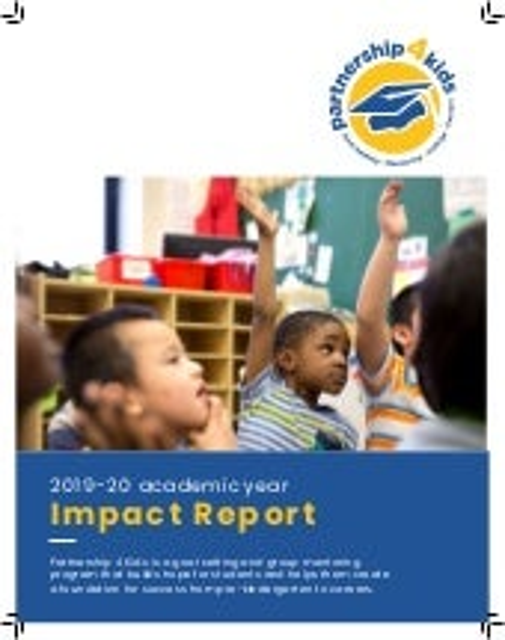 Partnership 4 Kids 2019-20 Impact Report