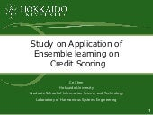 Study on Application of Ensemble learning on Credit Scoring