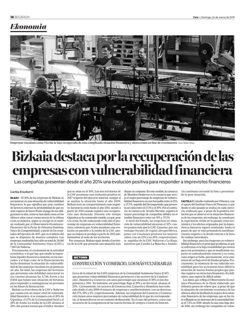 Vulnerabilidad Financiera de las Empresas Vizcaínas
